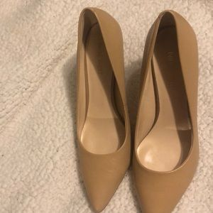 Ninewest 7 nude pumps